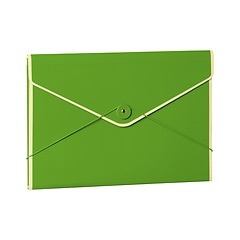 Envelope Folder with elastic band closure, lime