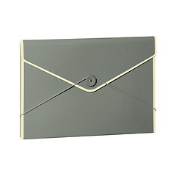 Envelope Folder with elastic band closure, grey