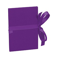 Leporello small, 14 photos - size 10 x 15cm, plum