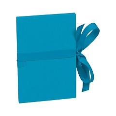 Leporello small, 14 photos - size 10 x 15cm, turquoise