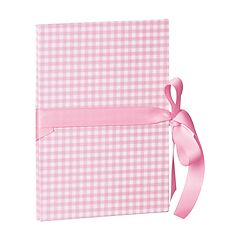 Leporello small, 14 photos - size 10 x 15cm, vichy pink