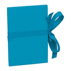 Leporello big, 14 photos - size 13 x 18 cm, turquoise