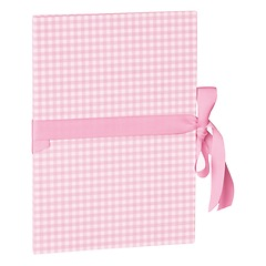 Leporello big, 14 photos - size 13 x 18 cm, vichy pink