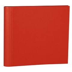 23 Rings Scrapbooking Ring Binder, expendable, efalin cover, red
