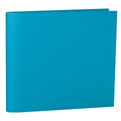23 Rings Scrapbooking Ring Binder, expendable, efalin cover, turquoise