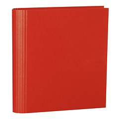 4 Rings Photo Ring Binder, expendable, efalin cover, red