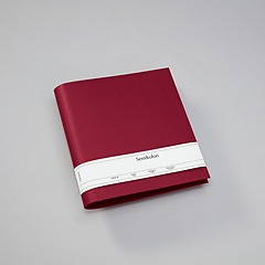4 Rings Photo Ring Binder, expendable, efalin cover, burgundy