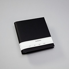 4 Rings Photo Ring Binder, expendable, efalin cover, black