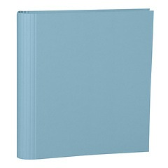4 Rings Photo Ring Binder, expendable, efalin cover, ciel