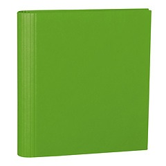 4 Rings Photo Ring Binder, expendable, efalin cover, lime