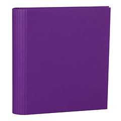 4 Rings Photo Ring Binder, expendable, efalin cover, plum