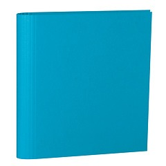 4 Rings Photo Ring Binder, expendable, efalin cover, turquoise