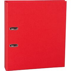 Wide Ring Binder (A4) 7cm spine, lever mechanism, efalin cover, red