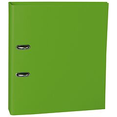 Wide Ring Binder (A4) 7cm spine, lever mechanism, efalin cover, lime