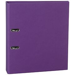 Wide Ring Binder (A4) 7cm spine, lever mechanism, efalin cover, plum