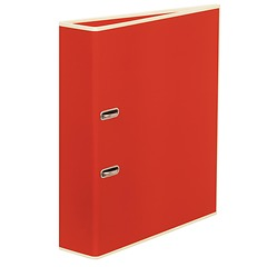 Wide Ring Binder (A4) lever mechanism, removable labels - 7 cm spine, red