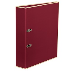 Wide Ring Binder (A4) lever mechanism, removable labels - 7 cm spine, burgundy