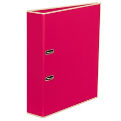 Wide Ring Binder (A4) lever mechanism, removable labels - 7 cm spine, pink