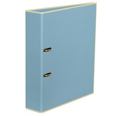 Wide Ring Binder (A4) lever mechanism, removable labels - 7 cm spine, ciel