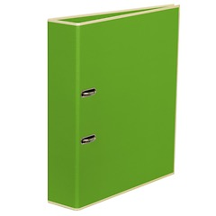 Wide Ring Binder (A4) lever mechanism, removable labels - 7 cm spine, lime