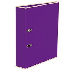 Wide Ring Binder (A4) lever mechanism, removable labels - 7 cm spine, plum