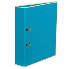 Wide Ring Binder (A4) lever mechanism, removable labels - 7 cm spine, turquoise