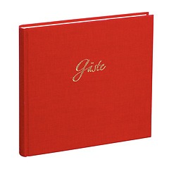 Guestbook, 240 pages, red gold, guests