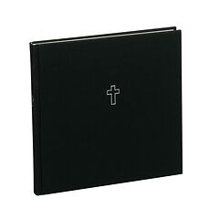Guestbook, 240 pages, black, cross embossing