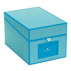 Multimedia Box with 5 adjustable tabs, turquoise