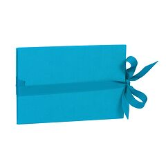 The small leporello horizontal, turquoise