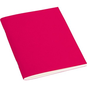 Journal with laid paper (A6) 64 pages, plain, pink
