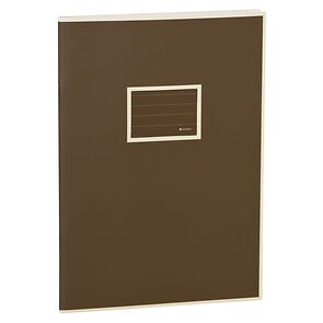 Exercise Book (A4) with a tag to personalize the book, ruled, brown