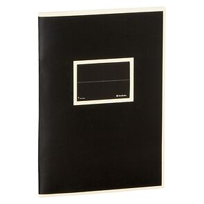 Exercise Book (A5) with a Tag to personalize, ruled, black