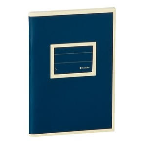 Exercise Book (A6) with a tag to personalize the book, ruled, marine