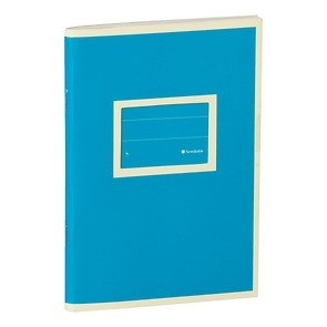 Exercise Book (A6)  with a tag to personalize the book, 96 pages, plain, turquoise
