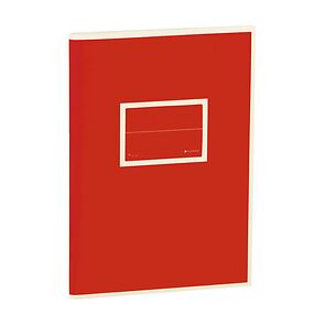 Exercise Book (A5) with a Tag to personalize, 96 pages, plain, red