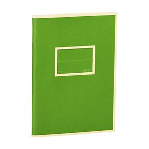 Exercise Book (A5) with a Tag to personalize, 96 pages, plain, lime