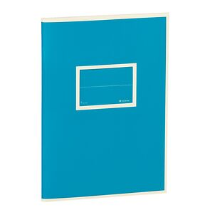 Exercise Book (A5) with a Tag to personalize, 96 pages, plain, turquoise