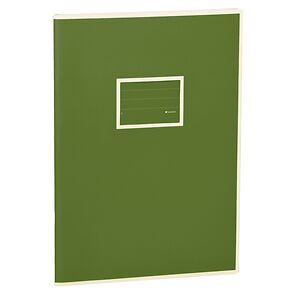 Exercise Book (A4)  with a tag to personalize the book, 96 pages, plain, irish