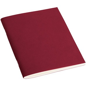 Filigrane Journal A6 with laid paper, 64 pages, ruled, burgundy