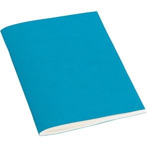 Filigrane Journal A6 with laid paper, 64 pages, ruled, turquoise
