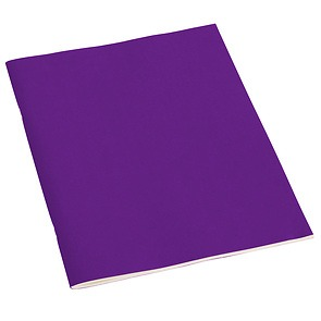 Filigrane Journal A4 with laid paper, 64 pages, ruled, plum