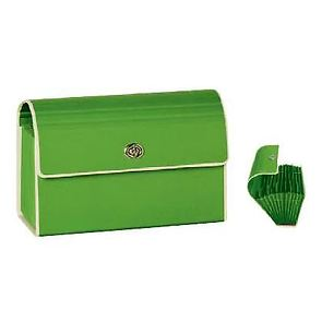 Small Accordion File with metal twist turn lock