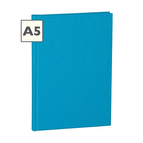 Notebook Classic (A5) ruled, book linen cover, 144 pages, turquoise