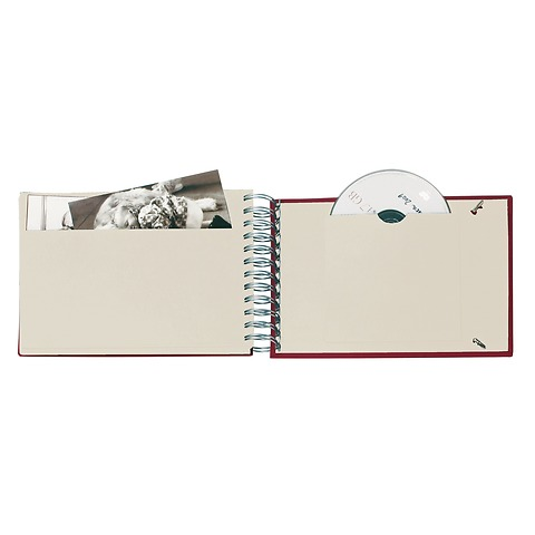 Mini Mucho Album Cream, 90 cream pages, book linen cover, plum