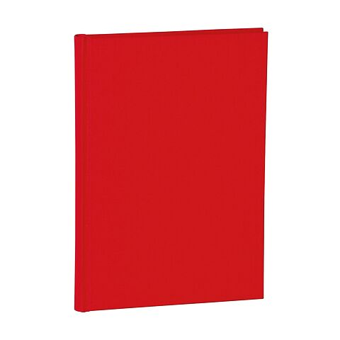 Notebook Classic (A5) dotted, book linen cover, 144 pages, red