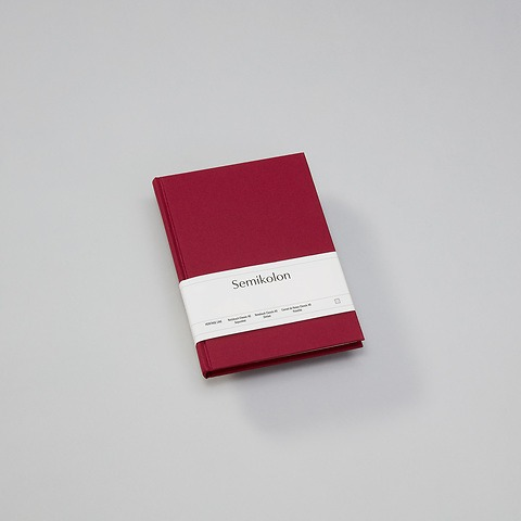 Notebook Classic (A5) dotted, book linen cover, 144 pages, burgundy