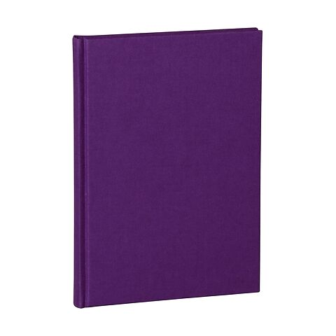 Notebook Classic (A5) dotted, book linen cover, 144 pages, plum
