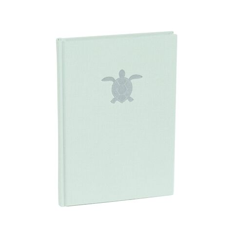 NB A5 Classic dotted moss, linen cover, 160 p. watermarked paper, turtle embossing