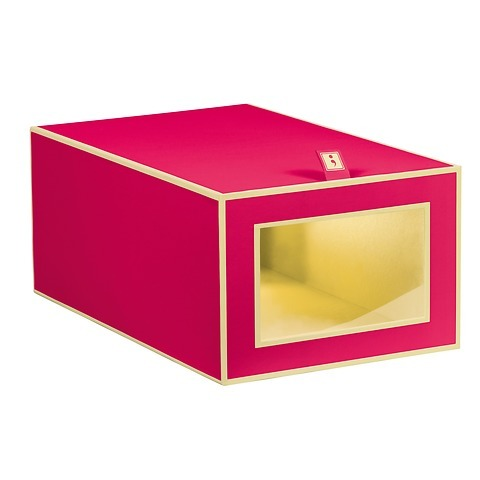 Shoe Box with viewing window and flap